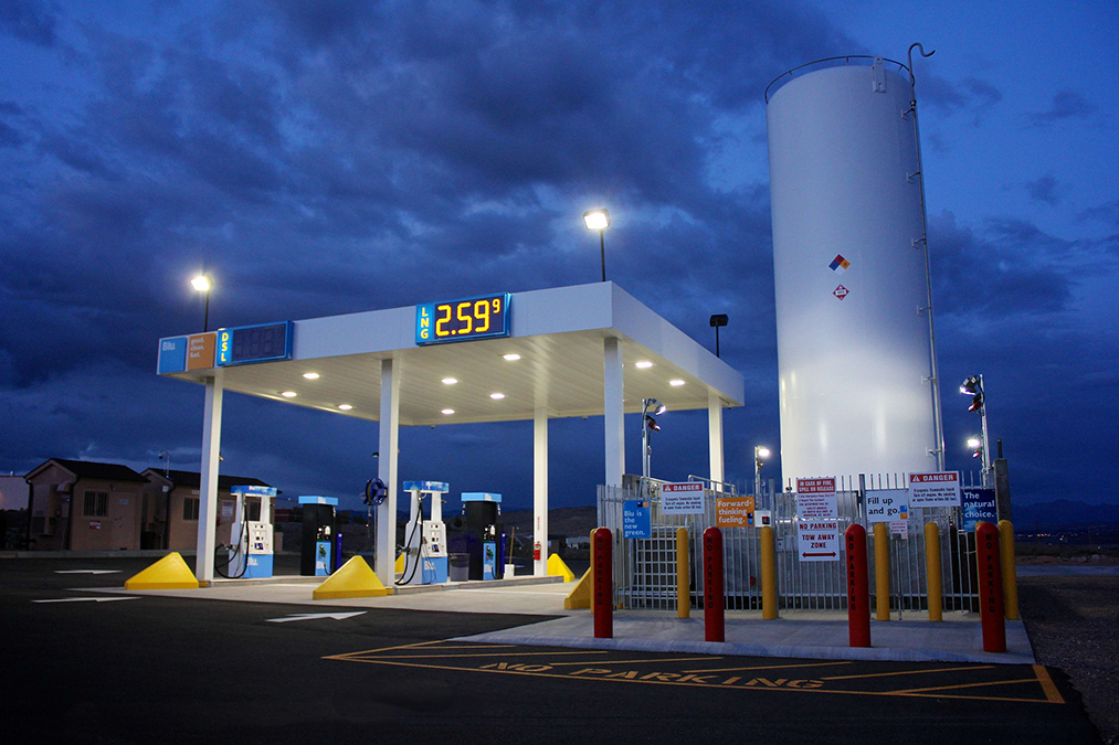 BLU LNG fueling station - Cartwright