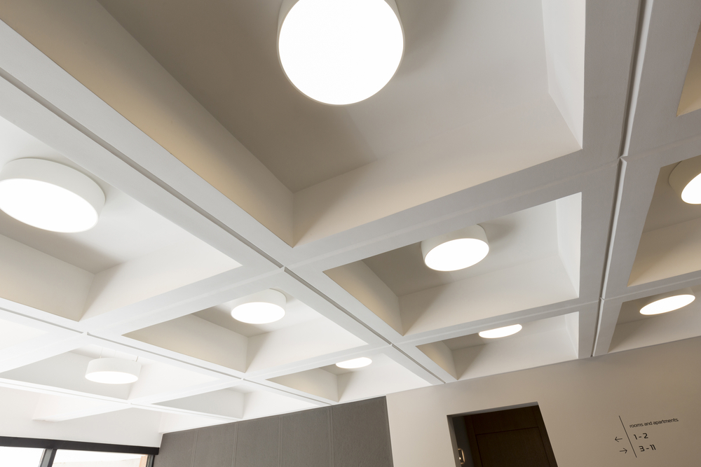 Overhead office lighting